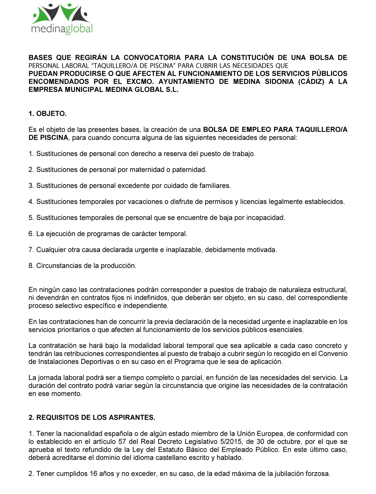 BASES BOLSA TAQUILLERO.A DE PISCINA